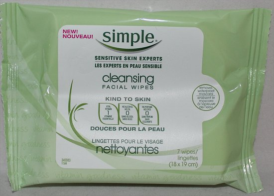 Simple Sensitive Skin Experts Cleansing Facial Wipes Topbox March 2012 Review & Pictures