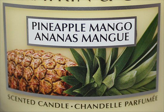 Slatkin & Co. Bath & Body Works Pineapple Mango Candle Review & Pictures