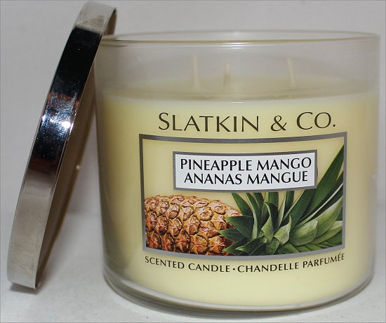 Slatkin and Co. Pineapple Mango Candle Review & Pictures Bath and Body Works