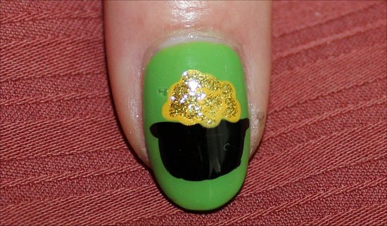 St. Paddy's Day Nails Pot of Gold Nail Art Tutorial