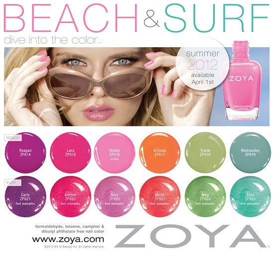 Zoya Beach and Surf Summer 2012 Collection Press Release & Promo Pictures