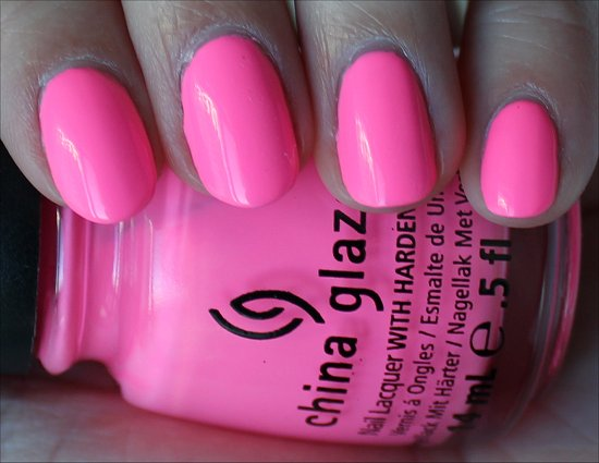 China Glaze Shocking Pink Review, Swatch & Pics