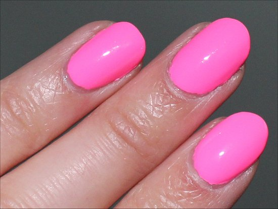 China Glaze Shocking Pink Review, Swatch & Pictures