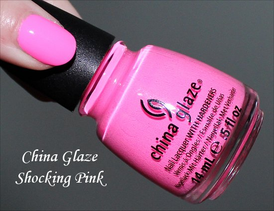 China Glaze Shocking Pink Review, Swatches & Pictures