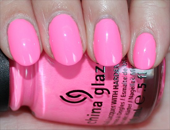 China Glaze Shocking Pink Review & Swatches
