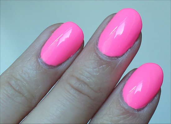 China Glaze Shocking Pink Swatch & Review