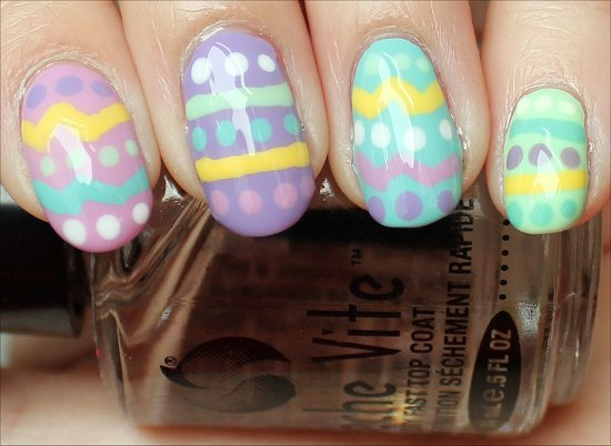 Easter Egg Manicure Nail Art Tutorial & Swatch