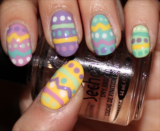Easter Egg Nail-Art Tutorial & Photos