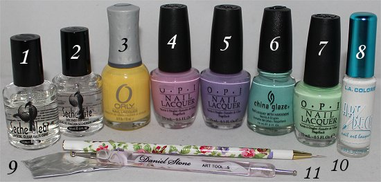 Easter Egg Nail Art Tutorial & Step by Step Instructions