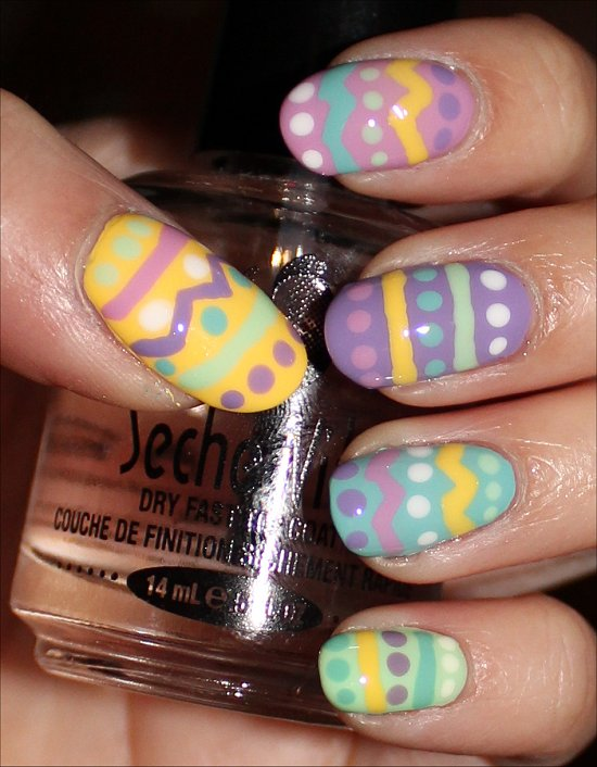 Easter Egg Nails Nail Art Tutorial & Pictures