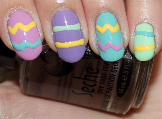 Easter Egg Nails Nail Art Tutorial Step 3