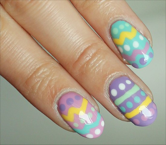 Easter Egg Nails Nail Art Tutorial & Step-by-Step Instructions & Pictures
