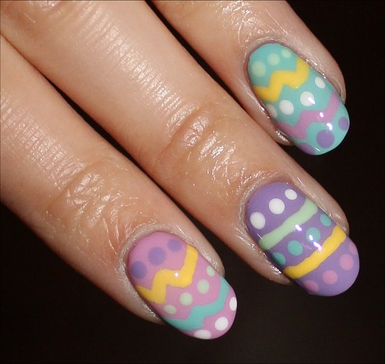 Easter Eggs Nail Art Tutorial & Instructions