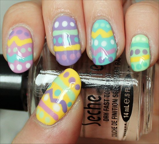 Easter Nails Nail Art Tutorial & Swatch
