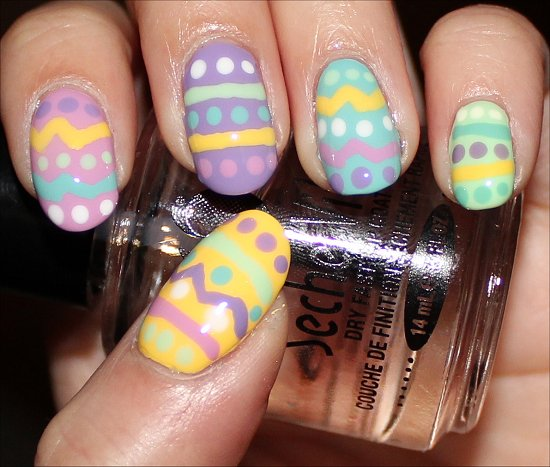 Easy Easter Egg Nail Art Tutorial & Swatches