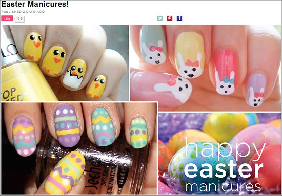 Happy Easter Nails Beautylish Swatch And Learn
