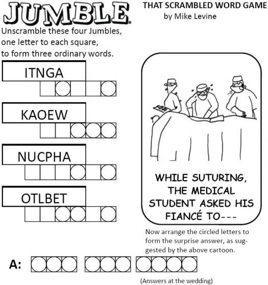 Genius image throughout free printable word scramble