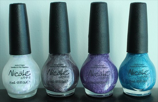 Nicole by OPI Opal Texture, Quartz Texture, Amethyst Texture & Aquamarine Texture Swatches & Pictures