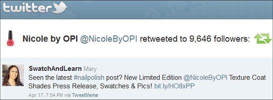 Nicole by OPI Twitter SwatchAndLearn