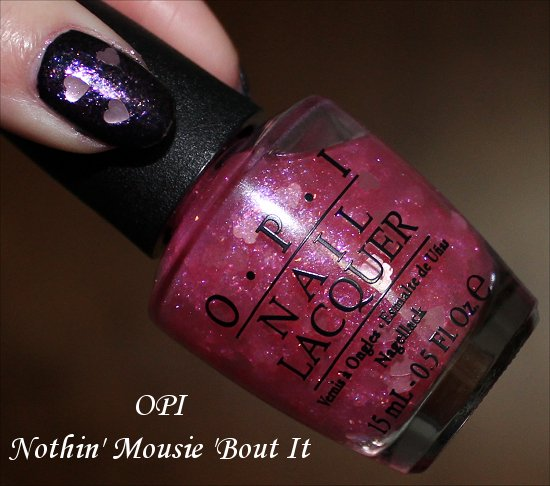 OPI Vintage Minnie Mouse OPI Nothin' Mousie 'Bout It Swatches & Review