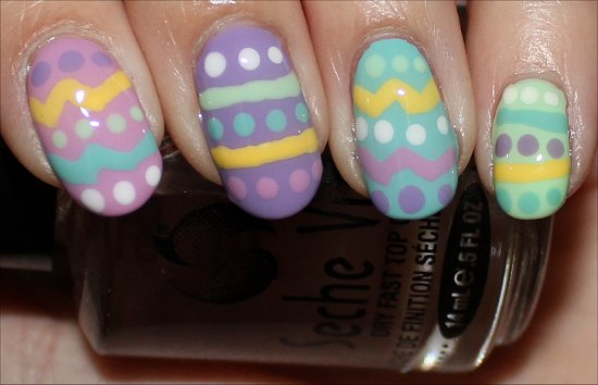Quick Easy Easter Nails Nail Art Tutorial Pics