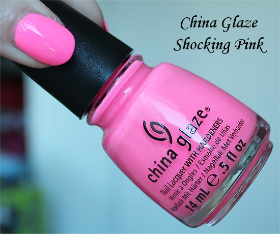 Shocking Pink China Glazey Swatches & Review