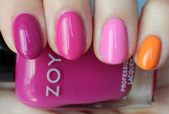 Skittle Manicure Zoya Surf & Beach Collection 2012