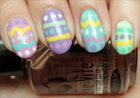 Easy easter nail art step by step : Nail art tutorial easter egg nails swatch and learn