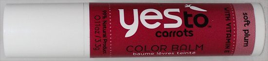 Yes to Carrots Color Balm Soft Plum Swatches & Review