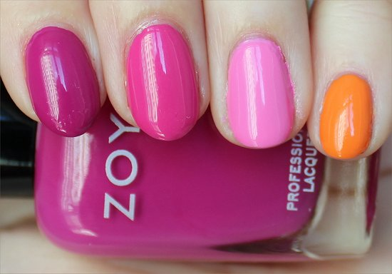 Zoya Nail Polish Skittle Nail Art Pics