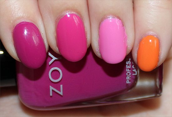Zoya Nails Skittle Nail Art Manicure Pictures