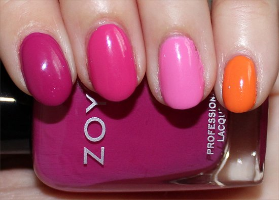 Zoya Skittle Nails Nail Art Photos