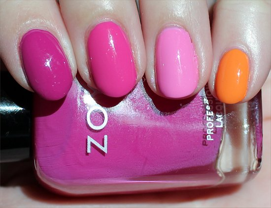 Zoya Surf & Beach 2012 Collection Skittle Manicure Swatch & Pictures