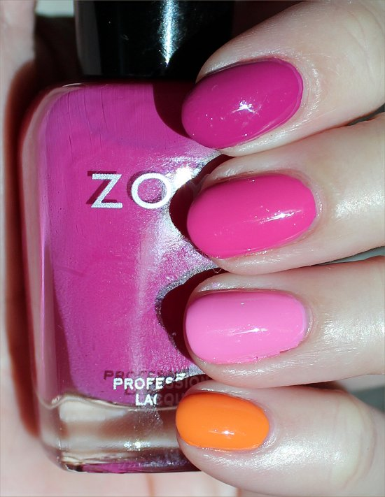 Zoya Surf & Beach 2012 Collection Skittle Manicure Swatches