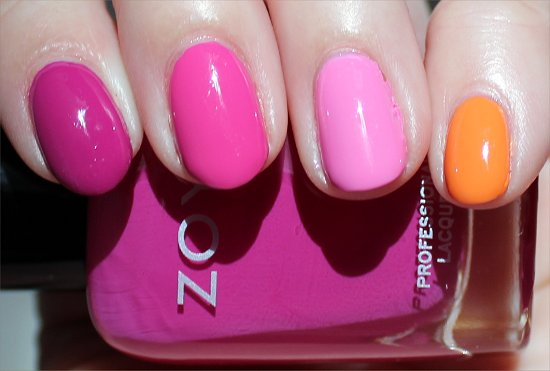 Zoya Surf & Beach 2012 Collection Skittle Nail Art Photos