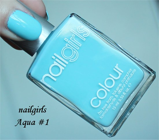 nailgirls Aqua 1 Review & Swatches