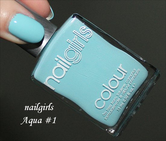 nailgirls Aqua #1 Swatch & Review