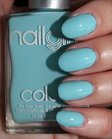 nailgirls Aqua 1 Swatches & Review