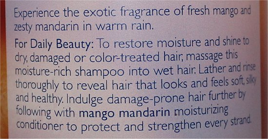 Bath & Body Works Mango Mandarin Moisturizing Shampoo Ingredients & Review