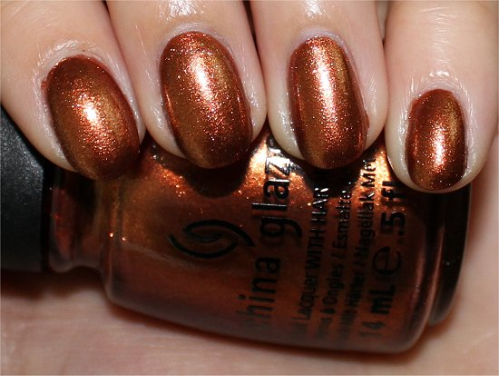 China Glaze Harvest Moon Review, Swatch & Pics