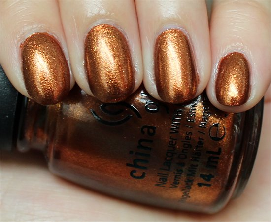 China Glaze Harvest Moon Swatch, Review & Photos