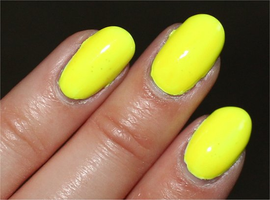 China Glaze Poolside Collection Swatches Yellow Polka Dot Bikini Swatch & Review