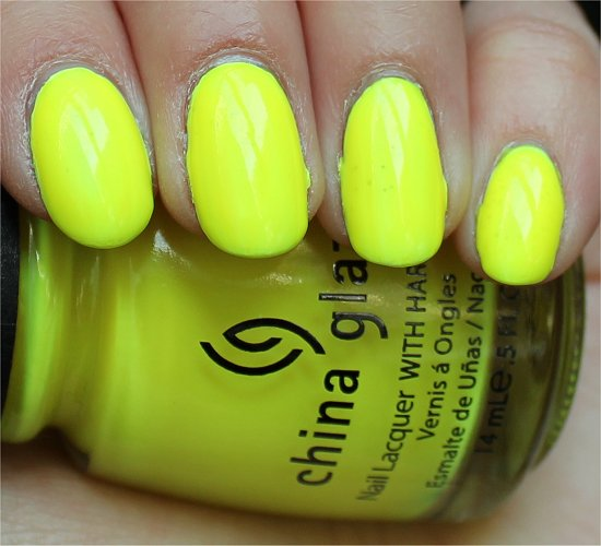 China Glaze Yellow Polka Dot Bikini Review, Swatch & Pics