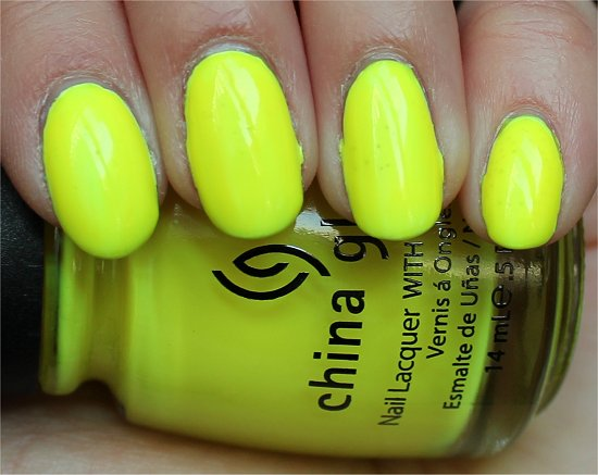 China Glaze Yellow Polka Dot Bikini Review & Swatch
