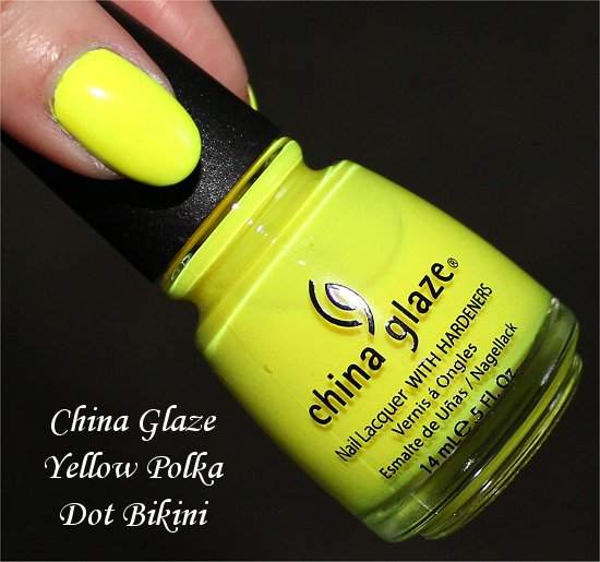 China Glaze Yellow Polka Dot Bikini Review & Swatches