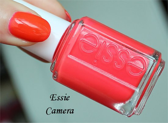 Essie Camera Poppy Razzi Collection Swatches & Review