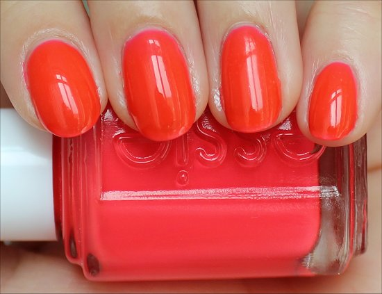 Essie Poppy Razzi Camera Swatches & Review