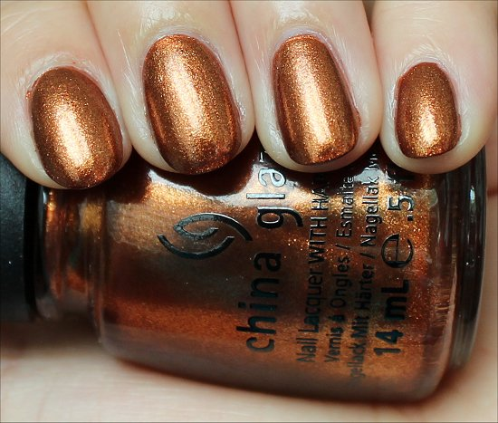 Harvest Moon China Glaze Colors from the Capitol Hunger Games Swatches & Review