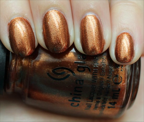 Harvest Moon China Glaze Colors from the Capitol The Hunger Games Swatches & Review