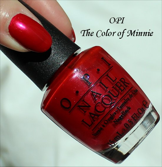 OPI The Color of Minnie OPI Vintage Minnie Mouse Collection Swatches & Review